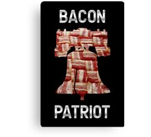 Bacon Patriot - American Liberty Bell - United States of America Canvas Print