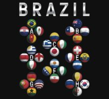 Brazil - World Football or Soccer - 2014 Groups - Brasil T-Shirt