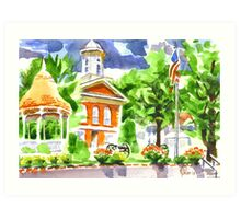 Courthouse Square Art Print