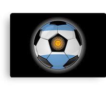 Argentina - Argentine Flag - Football or Soccer Canvas Print