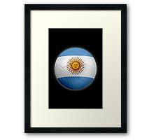 Argentina - Argentine Flag - Football or Soccer 2 Framed Print