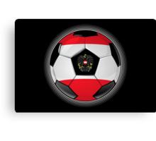 Austria - Austrian Flag - Football or Soccer Canvas Print