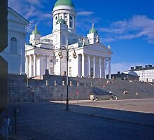 Helsinki Cathedral, Finland from the University by Priscilla Turner