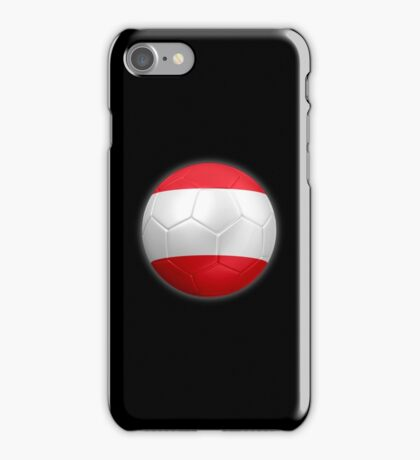 Austria - Austrian Flag - Football or Soccer 2 iPhone Case/Skin