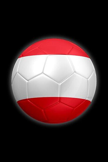 Austria - Austrian Flag - Football or Soccer 2 by graphix