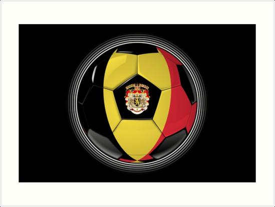 Belgium - Belgian Flag - Football or Soccer by graphix