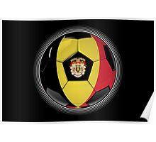 Belgium - Belgian Flag - Football or Soccer Poster