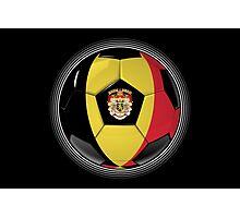 Belgium - Belgian Flag - Football or Soccer Photographic Print