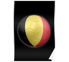 Belgium - Belgian Flag - Football or Soccer 2 Poster