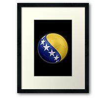 Bosnia and Herzegovina - Bosnian Flag - Football or Soccer 2 Framed Print