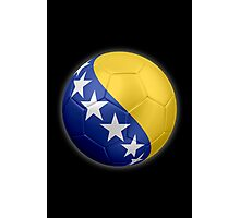 Bosnia and Herzegovina - Bosnian Flag - Football or Soccer 2 Photographic Print
