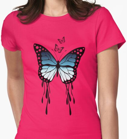 Beautiful Butterfly Womens Fitted T-Shirt
