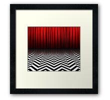 Twin Peaks - Black Lodge Framed Print
