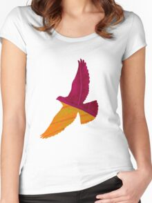 Colored Bird Women's Fitted Scoop T-Shirt
