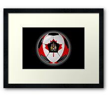 Canada - Canadian Flag - Football or Soccer Framed Print