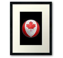 Canada - Canadian Flag - Football or Soccer 2 Framed Print