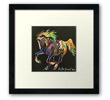 Starburst Pony (for Skyhorse) Framed Print