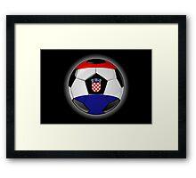 Croatia - Croatian Flag - Football or Soccer Framed Print