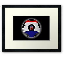 Croatia - Croatian Flag - Football or Soccer Framed Print