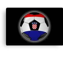 Croatia - Croatian Flag - Football or Soccer Canvas Print