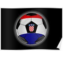 Croatia - Croatian Flag - Football or Soccer Poster