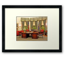 Replica Truman Oval Office Framed Print