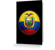 Ecuador - Ecuadorian Flag - Football or Soccer 2 Greeting Card