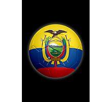 Ecuador - Ecuadorian Flag - Football or Soccer 2 Photographic Print