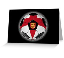 England - English Flag - Football or Soccer Greeting Card