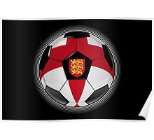 England - English Flag - Football or Soccer Poster