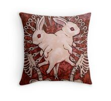Scarlet and Violet Throw Pillow
