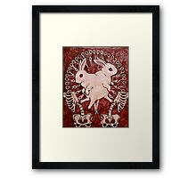 Scarlet and Violet Framed Print