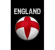 England - English Flag - Football or Soccer Ball & Text 2 Photographic Print