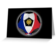 France - French Flag - Football or Soccer Greeting Card