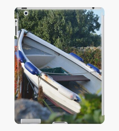 Small Boat On Land iPad Case/Skin