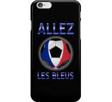 Allez Les Bleus - French Football & Text - Metallic iPhone Case/Skin
