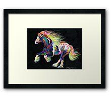Trail Of Hearts Pony Framed Print