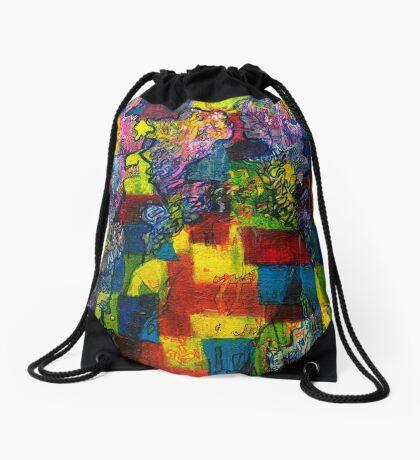 Blocks - Running Man Drawstring Bag