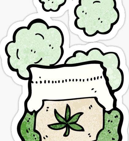 cartoon bag of weed Sticker