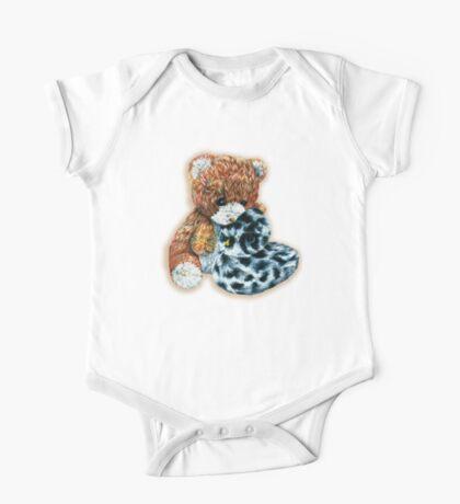 Teddy bear cuddles  One Piece - Short Sleeve