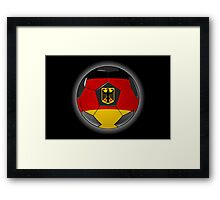Germany - German Flag - Football or Soccer Framed Print