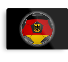 Germany - German Flag - Football or Soccer Metal Print