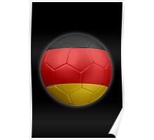 Germany - German Flag - Football or Soccer 2 Poster