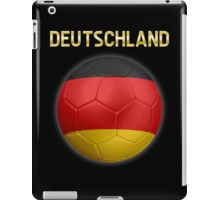 Deutschland - German Flag - Football or Soccer Ball & Text 2 iPad Case/Skin