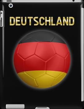 Deutschland - German Flag - Football or Soccer Ball & Text 2 by graphix
