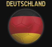 Deutschland - German Flag - Football or Soccer Ball & Text 2 by graphix