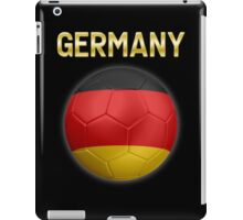 Germany - German Flag - Football or Soccer Ball & Text 2 iPad Case/Skin
