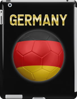 Germany - German Flag - Football or Soccer Ball & Text 2 by graphix