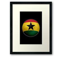 Ghana - Ghanaian Flag - Football or Soccer 2 Framed Print