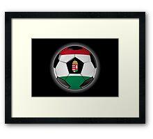 Hungary - Hungarian Flag - Football or Soccer Framed Print